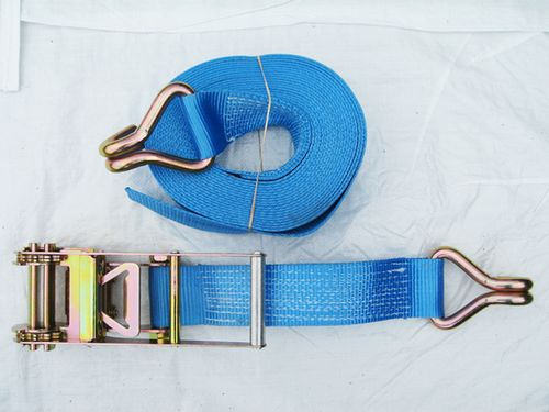 Blue Ratchet Straps With Claw Hooks
